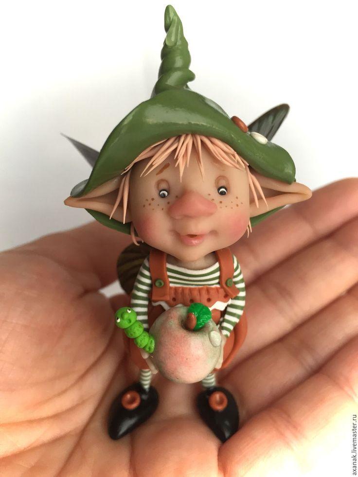 Купить Яблочки - комбинированный, сказка, сказочный персонаж, сказочные персонажи, сказочные существа, сказочный подарок