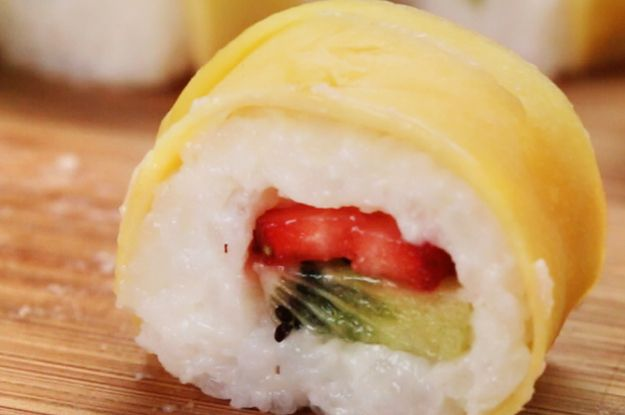 YOUR. MIND. IS. ABOUT. TO. BE. BLOWN… | This Recipe For Fruit Sushi Will Blow Your Mind