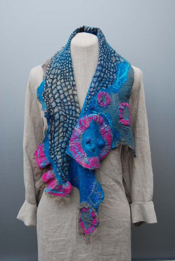 Beautiful felted scarf!