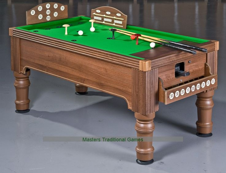 Walnut Bar Billiards Table