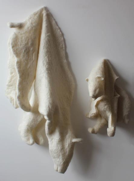 Felt Bear Skins - a little bit creepy