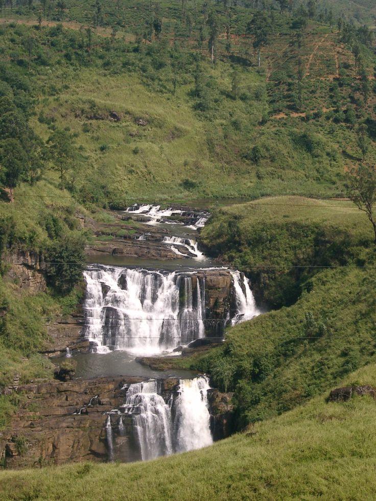 misty waterfalls
