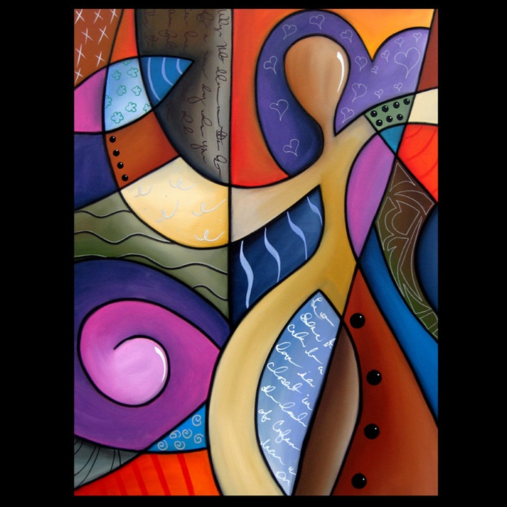 What's On Your Mind - Original Large Abstract Contemporary Modern Art CUBIST…