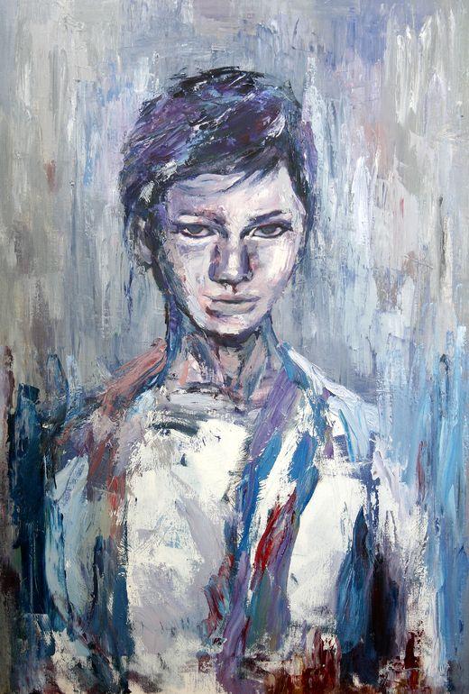 """Saatchi Online Artist: younju jung; Oil, 2013, Painting """"gender of violet"""""""