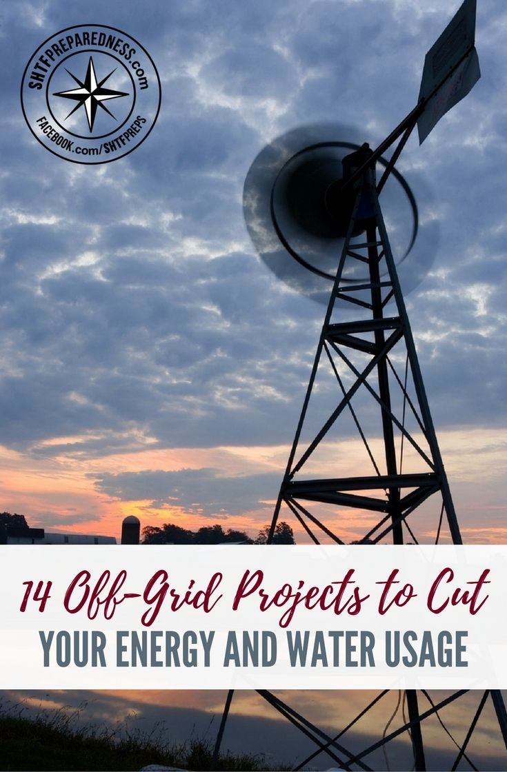 14 Off-Grid Projects to Cut Your Energy and Water Usage — Living off-grid is pretty much every preppers dream. I know it has been my dream for ever and having the ability to not rely on the government or big corporations for power, food and water is just around the corner for everyone if they put their mind to it.
