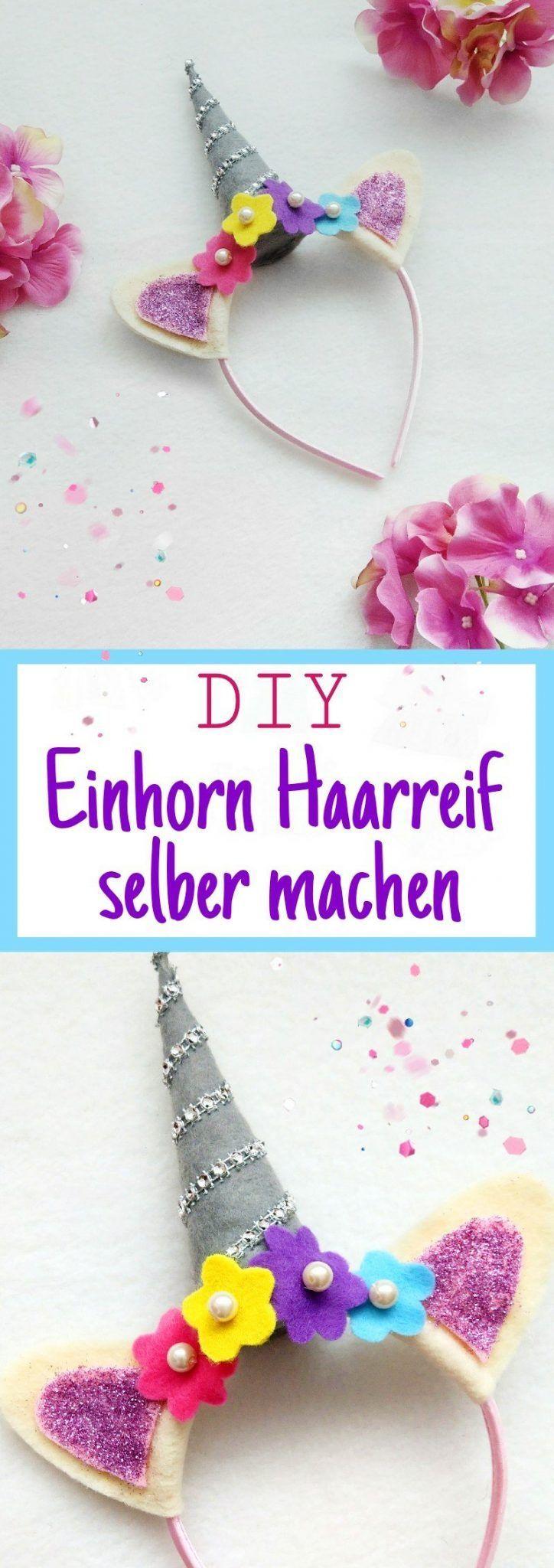 Einhorn Kostüm für Kinder selber machen – Teil 3 – DIY Einhorn Haarreif