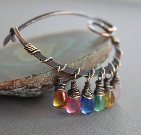 Arch scarf pin or shawl pin with rainbow by IngoDesign on Etsy, $34.00