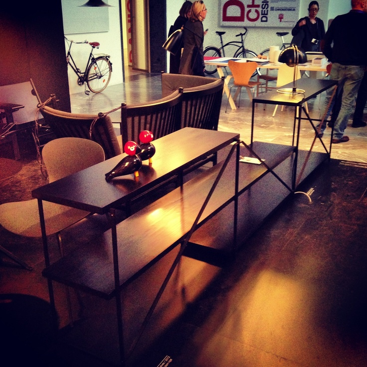 "R.I G Shelving System in Black Linoleum at Triennale di Milano 2013 ""Danish Chromatism"""