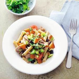 Recept - Penne met pompoen en tonijn - Allerhande