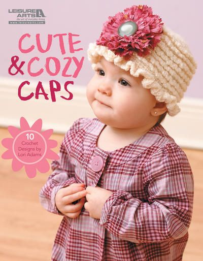 You can crochet the perfect hat for every child you love! From a flower-bedecked bowler to a tasseled stocking cap; these fun noggin-toppers offer a variety of textures; colors; and themes. Ten playful styles will keep those wonderful kids as cozy as they are cute. All projects have written instructions.