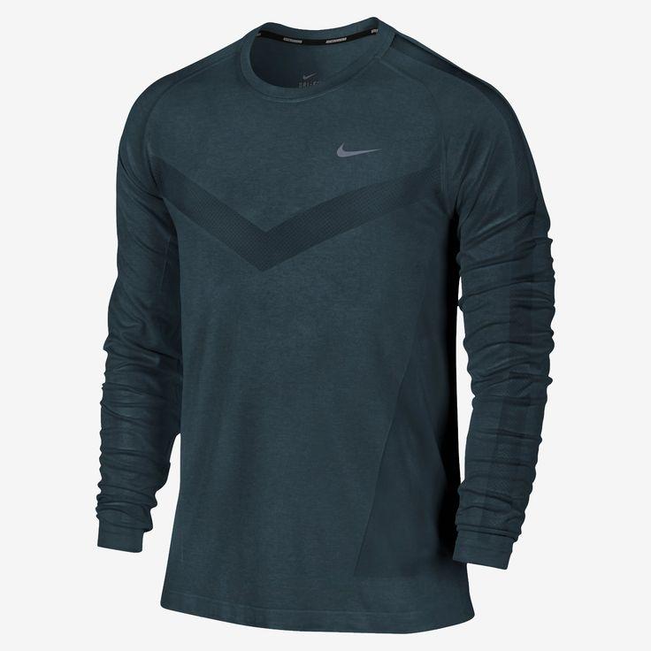 Nike Dri-FIT Knit Long-Sleeve Men's Running Shirt