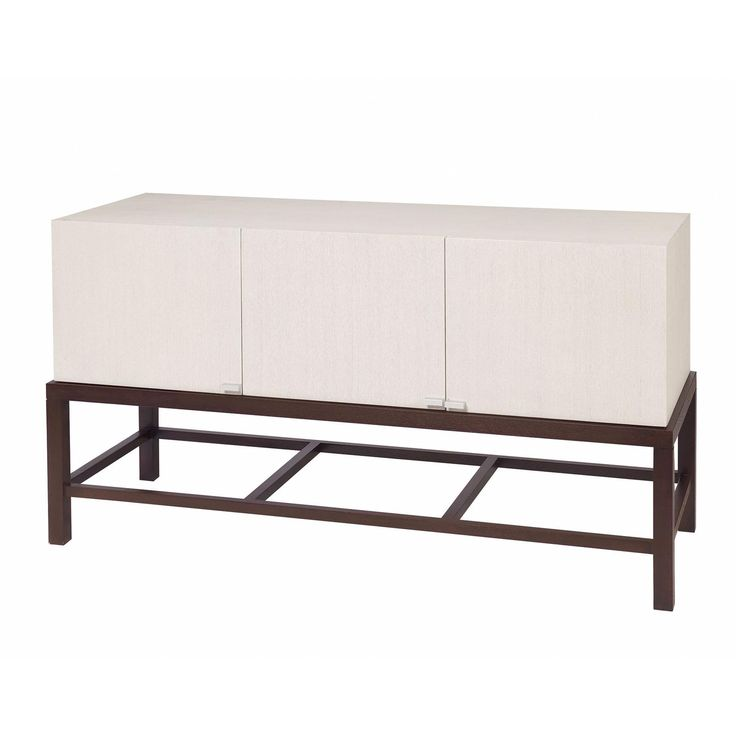 Spats 3-Door Buffet in Espresso Finish with Chalk White on Ash Top by Allan Copley Designs