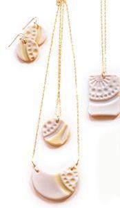Gorgeous ceramic jewelry