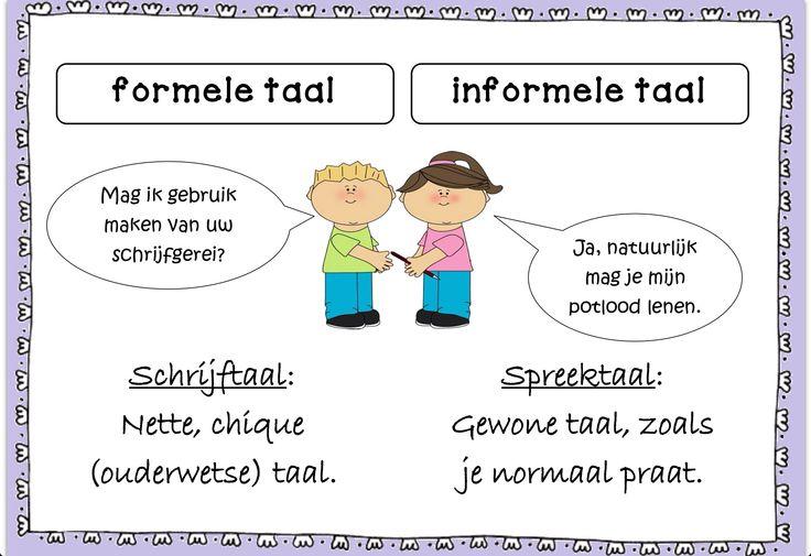 Formele en informele taal