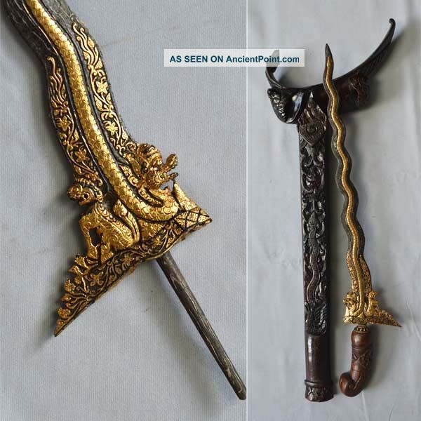 New Keris Singo Barong 13 Luk New Creation With Gold Kriss Kris Krissen
