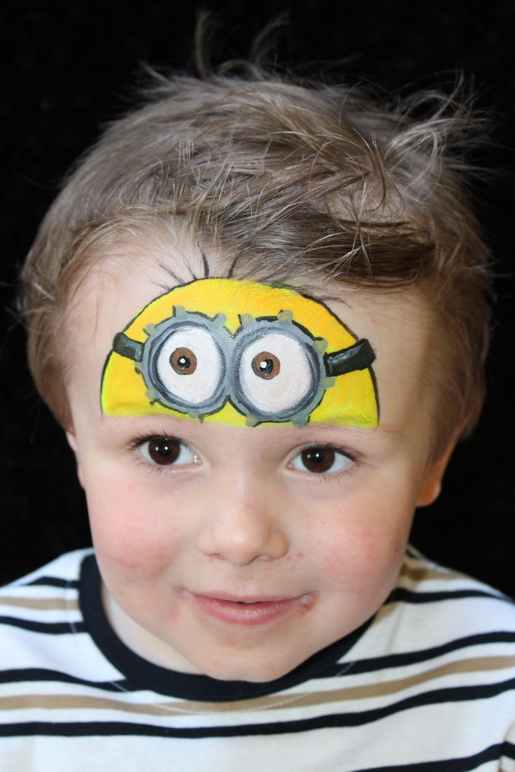 minion painted by emma from aface4u face painting pinterest minion makeup makeup and minions. Black Bedroom Furniture Sets. Home Design Ideas