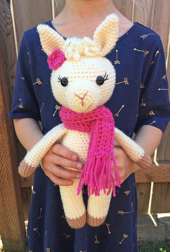PDF instant download Llama ballerina crochet tutorial alpaca cute gift soft toy pattern
