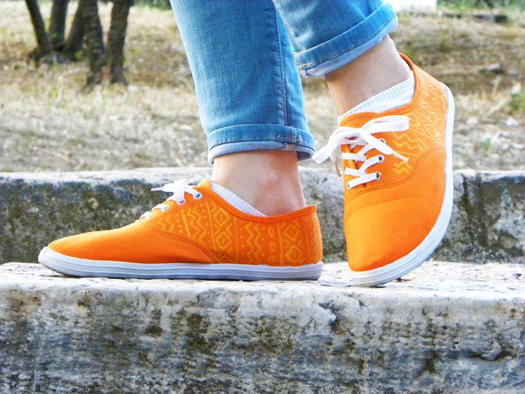 Orange Crush hand painted shoes! Please check my etsy shop!! https://www.etsy.com/shop/MirandaKou?ref=hdr_shop_menu