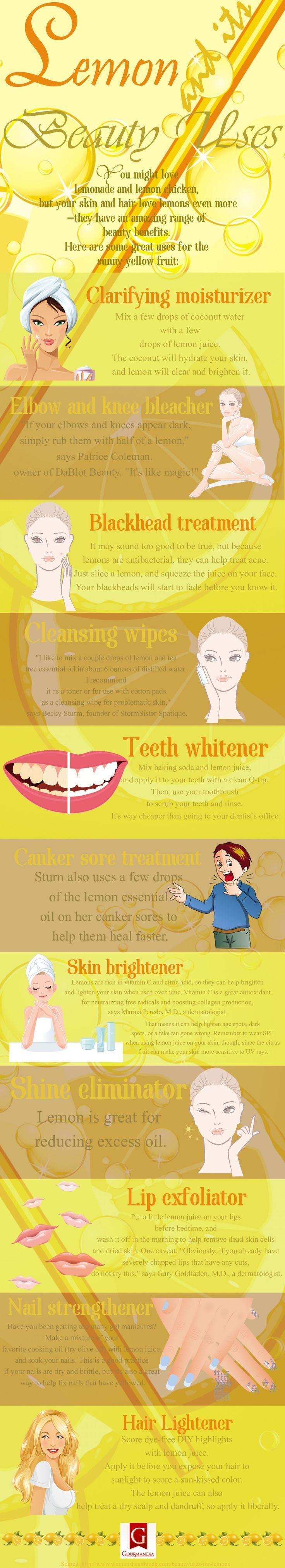 For Love and Lemons. Who knew lemons could be such great natural resources … especially for whitening your teeth before those up close and personal wedding photo sessions. Info via Women's Health Mag.