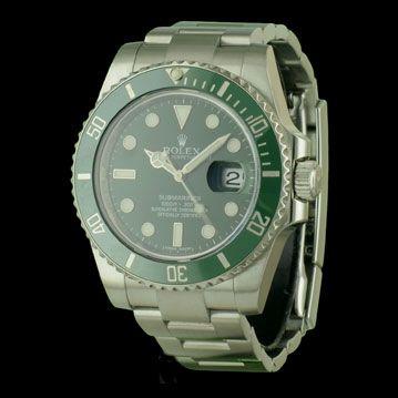 ROLEX - New Submariner Date Verte, cresus montres de luxe d'occasion, http://www.cresus.fr/montres/montre-occasion-rolex-new_submariner_date_verte,r2,p25476.html