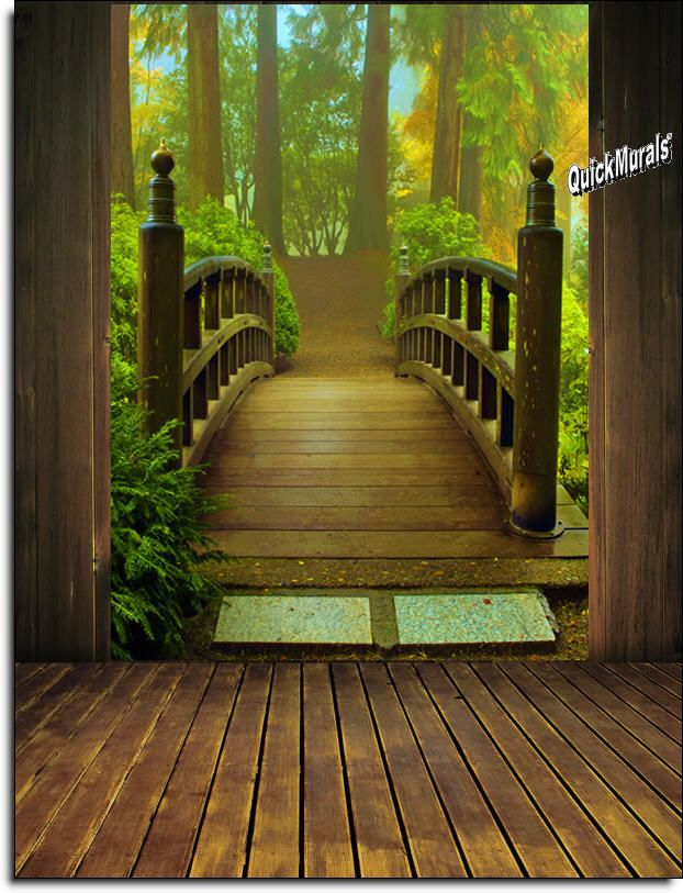 1000 ideas about wall murals on pinterest custom wall for Enchanted forest wall mural
