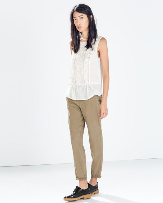 ZARA - SALE - PLEATED TROUSERS WITH BELT