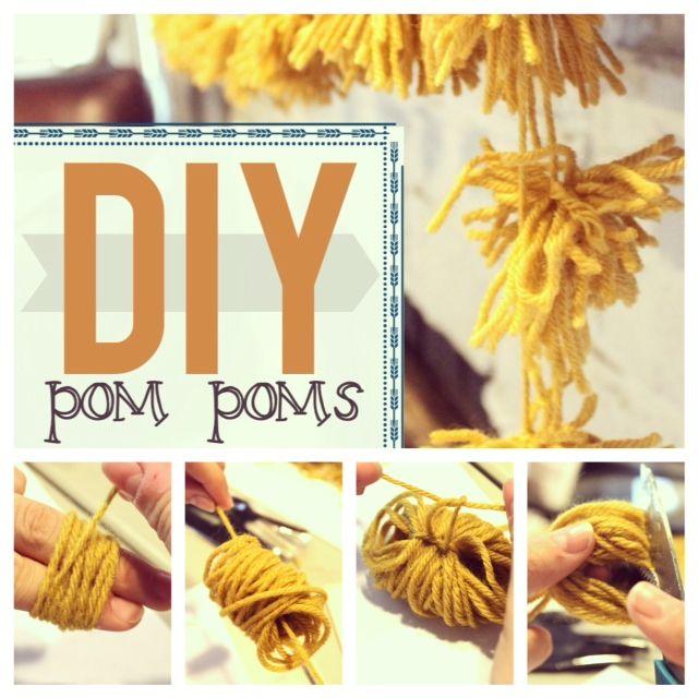 pom pom yarn garland