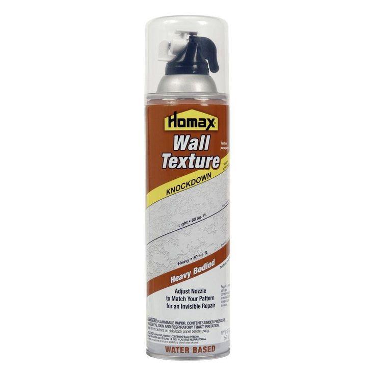 Homax 20 oz wall knockdown water based spray texture4065