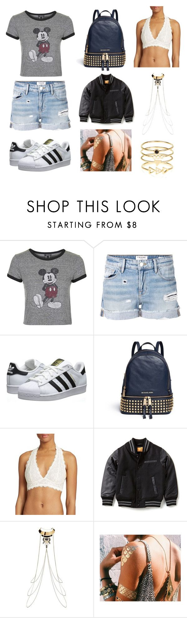 """""""Outside Lands 2016 Inspiration"""" by sinead-thomas-1 on Polyvore featuring Topshop, Frame Denim, adidas Originals, Michael Kors, Free People and Accessorize"""