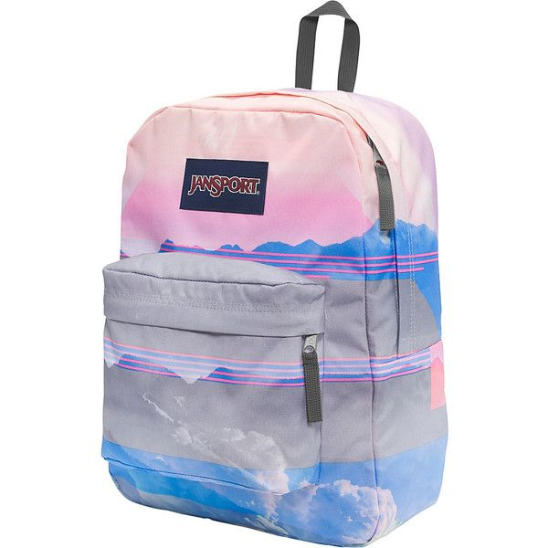 JanSport High Stakes Backpack - Multi Linear Skies - School Backpacks ($42) ❤ liked on Polyvore featuring bags, backpacks, blue, padded backpack, jansport rucksack, rucksack bags, day pack backpack and jansport bags