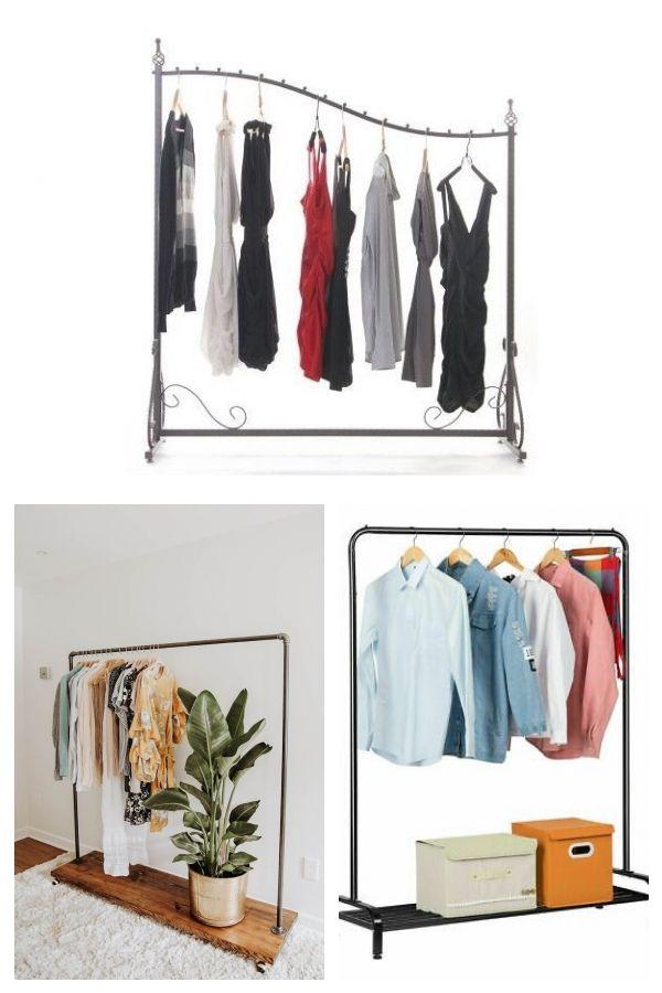 Boutique Display Garment Rack Decorative Clothing Rack Double
