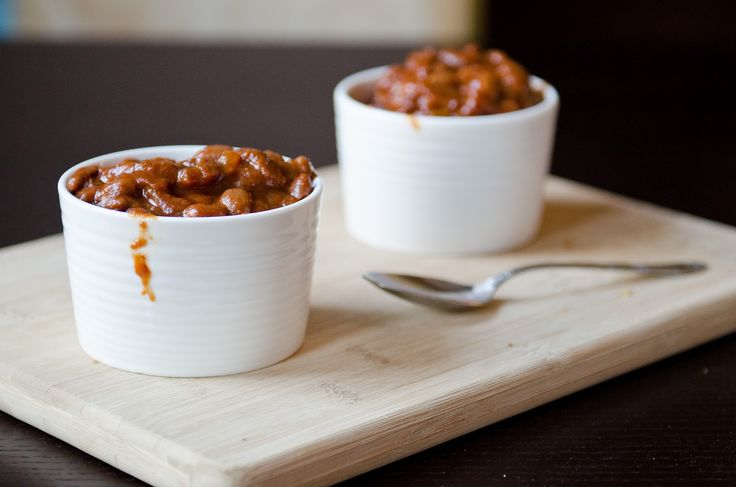 Canadian Maple Baked Beans - In this blog the writer mentions that there's nothing that special about baked beans. Why not make redeem them by serving them in a mini pan?