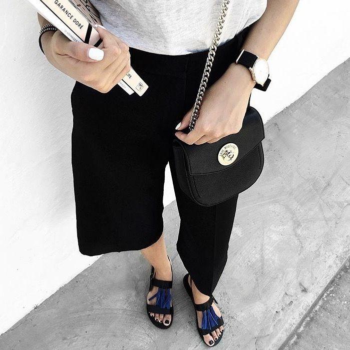 """""""Thalatta"""" black with blue tassels• www.sandalaki.com Handmade leather sandals"""