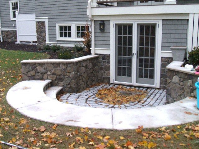 17 best images about walk out basements on pinterest for Walkout basement backyard ideas