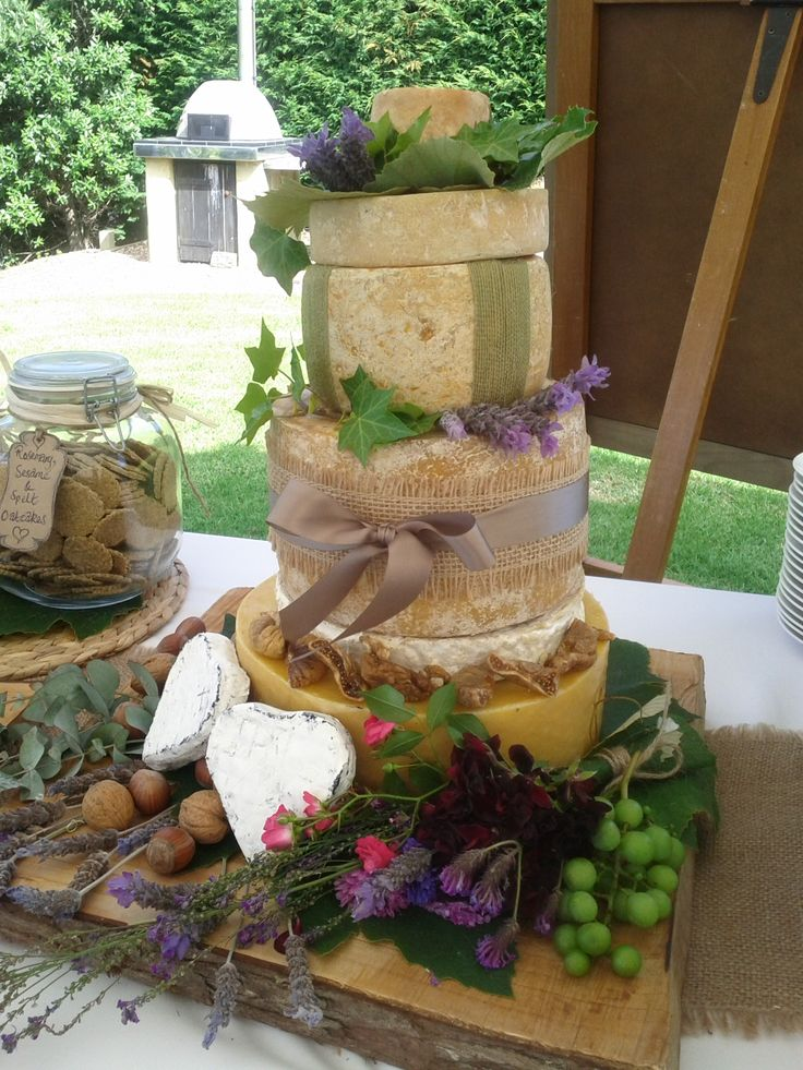 This was not the wedding cake, but I couldn't resist adding this pin to this board because it looks so fantastic! This is literally a 'cheese' cake. A great fun twist to make a really interesting cheese. board selection come to life. Wedding co-ordinated by Waiheke Island Weddings and Events