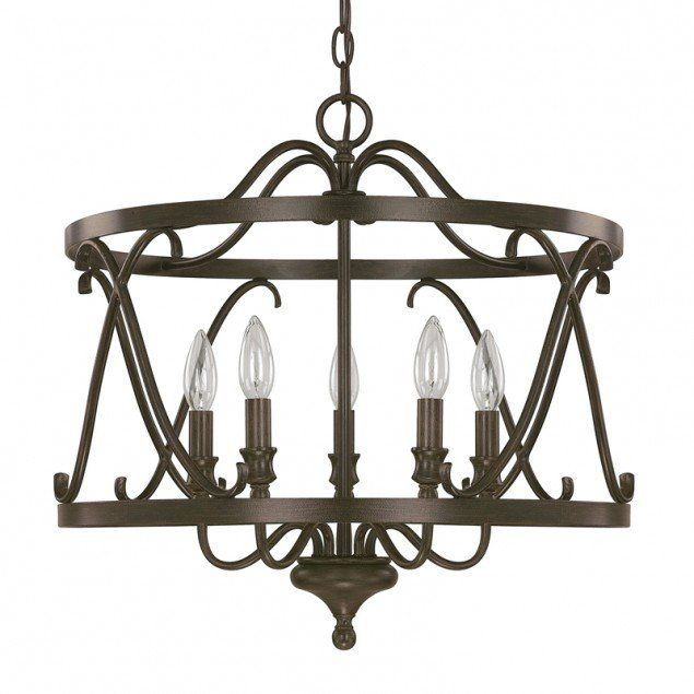View the Capital Lighting 4997 Abbey 5 Light 1 Tier Candle Style Chandelier at LightingDirect.com.