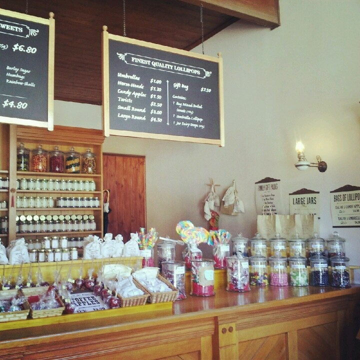 Sovereigh Hill candy shop. Ballarat