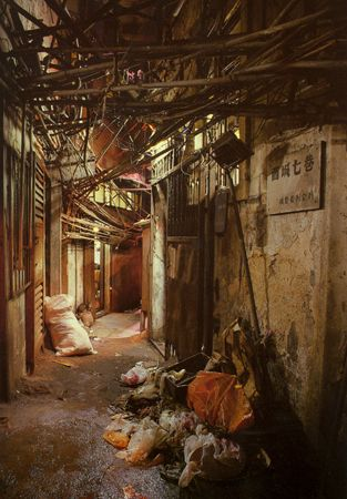 http://chom.hubpages.com/hub/The-densest-living-place-in-the-world-Hong-Kong-Kowloon-Walled-City
