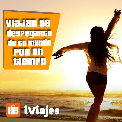 Salir de la rutina...  #Frase #Viajar #Iviajes #Telcel #Mexico #vacaciones
