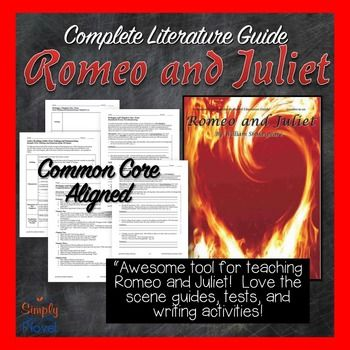 Awesome tool for teaching Romeo and Juliet.  Love the scene guides, tests, and writing activities.