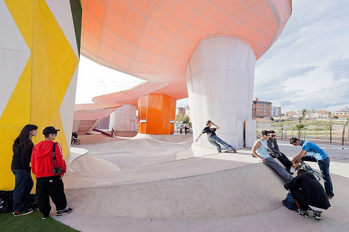 Really cool creation of public space that kids actually want to use!