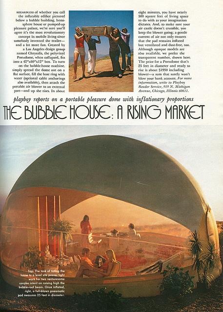 Bubble house! The Pneudome, 1972.: 1972, Bubbles Houses, Blog Futuristic, 1970S, Architecture, Photo, Mobiles Houses, Inflatable Bubbles, Futuristic Mobiles