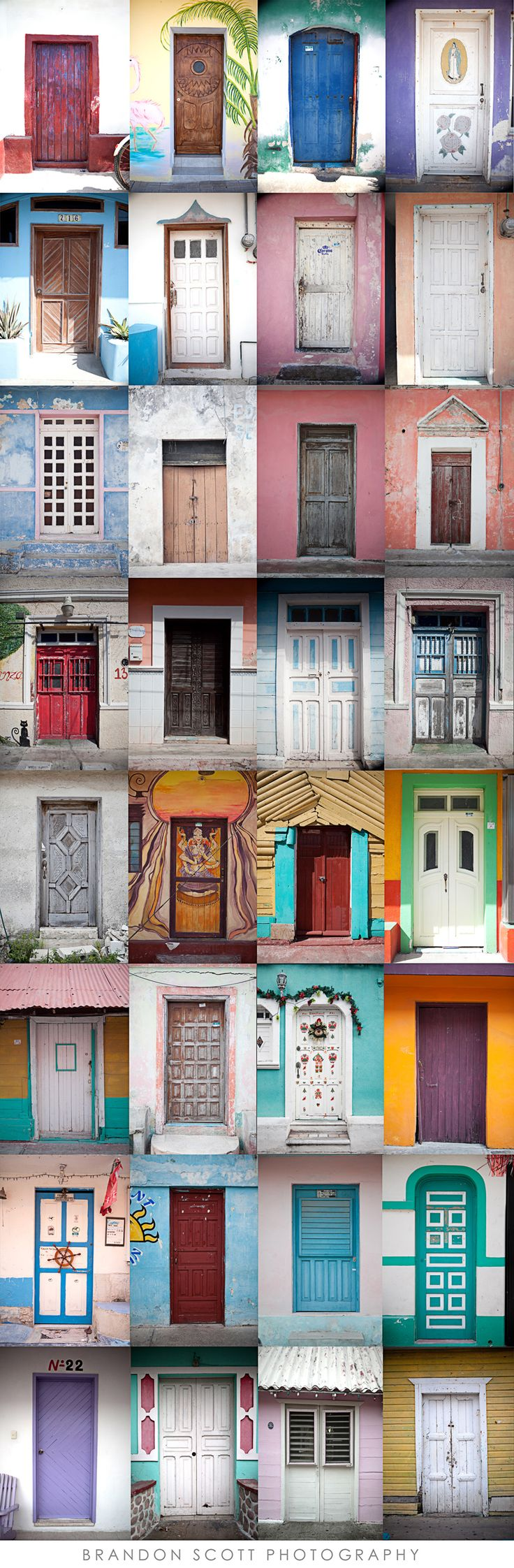 Doors, Isla Mujeres Mexico  This would be a great game to play, exploring the island.