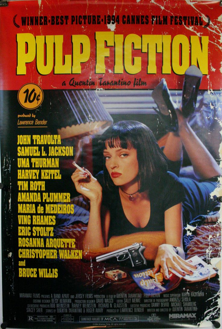 Image result for pulp fiction movie poster