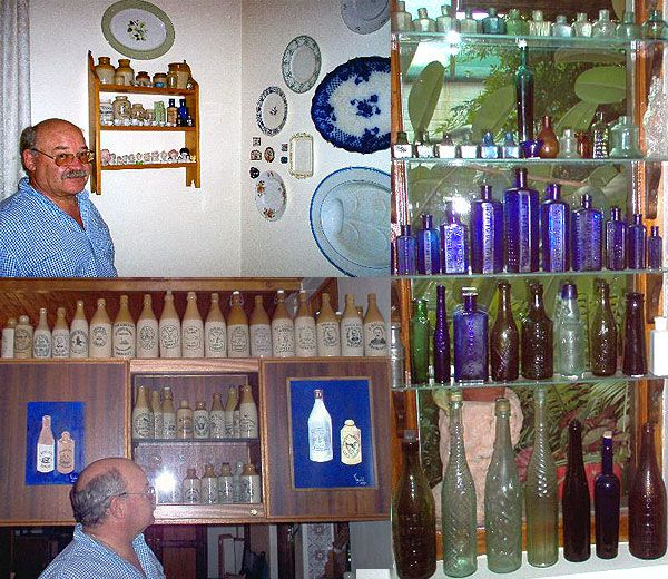 Antique Bottles - Collections Chris was fortunate to have been in Kimberley when bottle digging and collecting in South Africa was in its heyday and started in 1983. He moved to Upington and has still continued with his interest. We regularly hear from him and are amazed at how he consistently comes up with new discoveries.