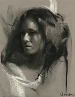 Nathan FowkesFowkes Artists, Inspiration, Nathan Fowkes, Charcoal Art, Charcoal Study 23 Web Jpg, Fowkes Portraits, Beautiful Art, Drawing, Portraits Sketches