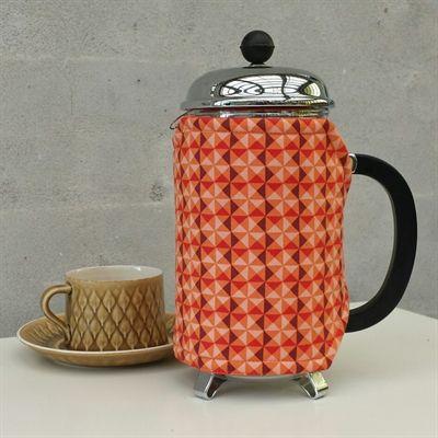 Retro orange kaffevarmer kaffefrakke.