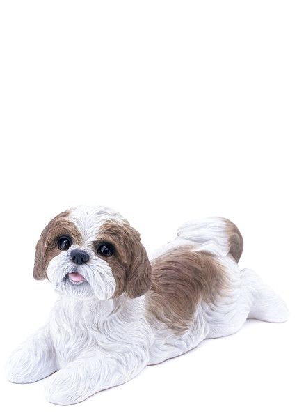 Shih Tzu Garden Statue Laying Down