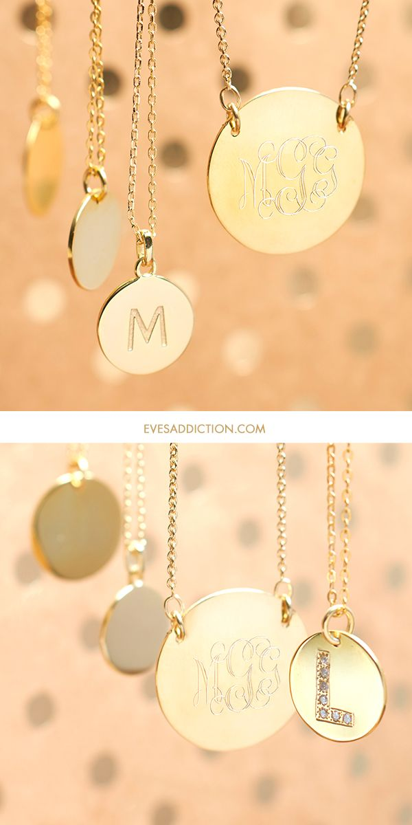 Save 30% on all initial necklaces from Eve's Addiction! Available in silver, gold or rose gold, you can personalize any of these pendants with your initial or monogram. Perfect as a stylish gift for friend and loved one too. Ships in 24 hours! #style