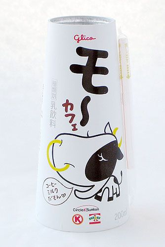 "Glico ""moo"" Coffee Milk. How cute is this cow @Melchör Mariana PD"